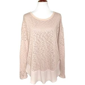 Anthropologie Blush High-Low Knit Tunic